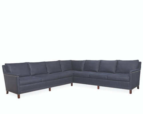 Lawrence Leather L1935-Series Sectional by Lee Industries at Artful Lodger in Charlottesville, VA