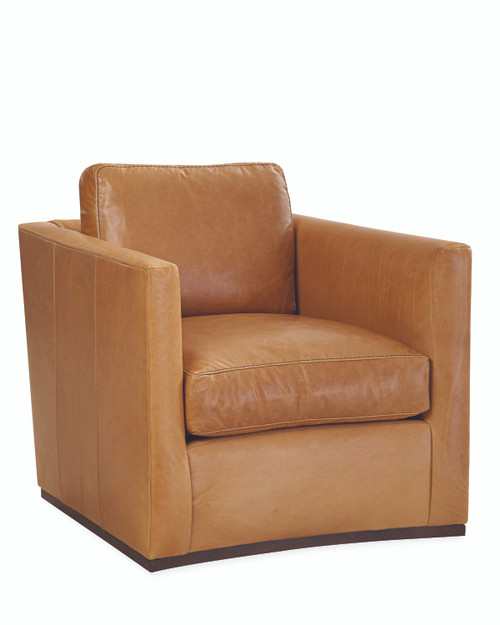 Casey L3022-01SW Leather Swivel Chair by Lee Industries at Artful Lodger in Charlottesville, VA