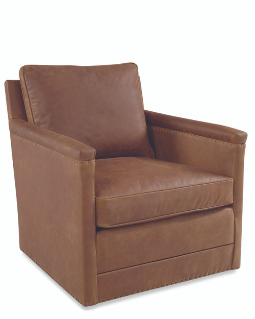 Lawrence Leather Swivel Chair L1935-01SW by Lee Industries at Artful Lodger in Charlottesville, VA
