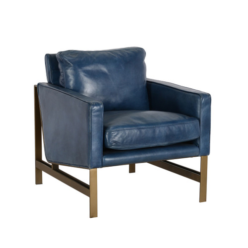 Leather Chazzie Blue Club Chair by Classic Home Furniture at the Artful Lodger in Charlottesville, VA