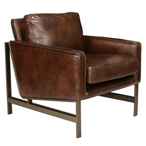 Leather Chazzie Brown Club Chair by Classic Home Furniture at the Artful Lodger in Charlottesville, VA