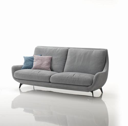 """Conchiglia 81.5"""" Sofa In Leather by Gorini Divani at the Artful Lodger in Charlottesville, VA"""
