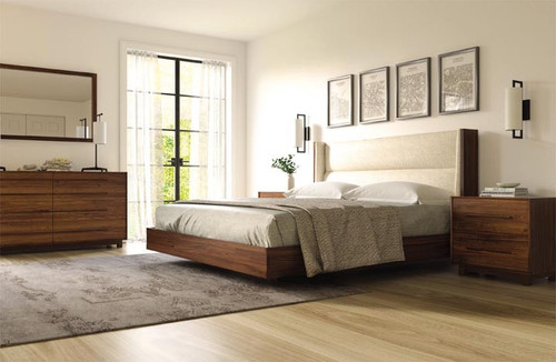 Sloane Floating Queen Bed by Copeland Furniture at the Artful Lodger in Charlottesville, VA