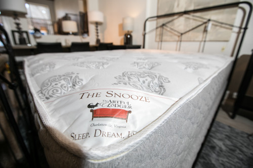 Snooze II 1 Sided Queen Mattress by Custom Comfort  at the Artful Lodger in Charlottesville, VA