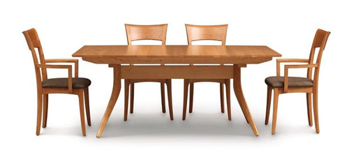 Catalina 40X72 Four Leg Extension Dining Table by Copeland Furniture at Artful Lodger in Charlottesville, VA