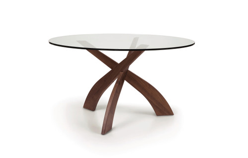 "Entwine 54"" Round Glass Top Dining Table by Copeland Furniture at Artful Lodger in Charlottesville, VA"