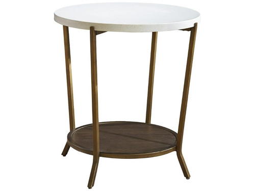 Playlist Round End Table by Universal Furniture at the Artful Lodger in Charlottesville, VA