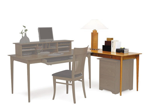 Sarah Return Desk in Natural Cherry by Copeland Furniture at the Artful Lodger in Charlottesville, VA
