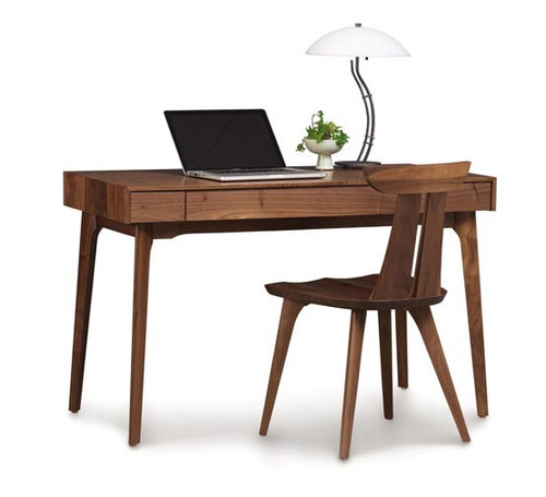 Catalina 24X48 Desk W/ Keyboard Tray in Natural Walnut by Copeland Furniture at the Artful Lodger in Charlottesville, VA