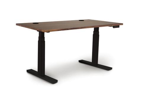 Invigo Sit-Stand Desk 26X48 in Natural Walnut by Copeland Furniture at the Artful Lodger in Charlottesville, VA