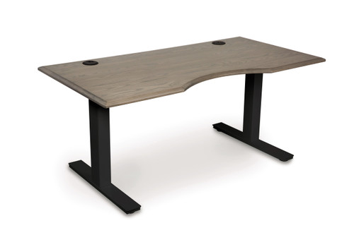 Invigo Sit-Stand Desk 30X60 in Weathered Ash by Copeland Furniture at the Artful Lodger in Charlottesville, VA