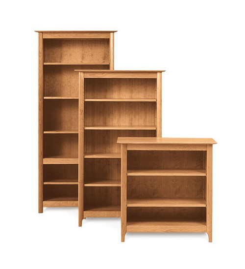 Sarah Medium Bookcase in Natural Cherry by Copeland Furniture at the Artful Lodger in Charlottesville, VA