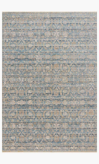 Claire Ocean/Gold by Loloi Rugs at the Artful Lodger in Charlottesville, VA