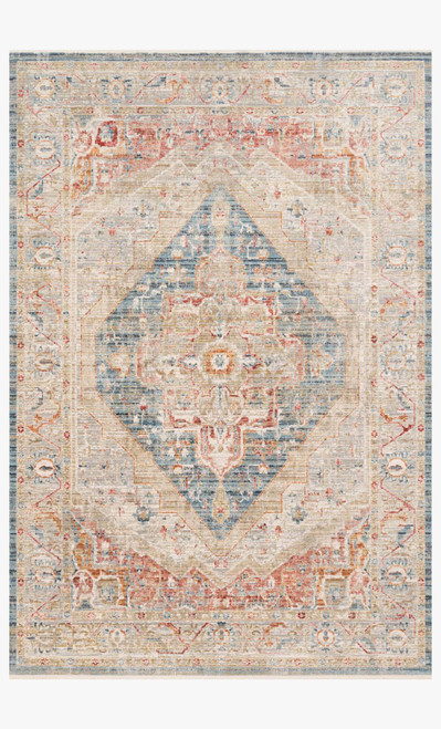 Claire Blue/Multi by Loloi Rugs at the Artful Lodger in Charlottesville, VA