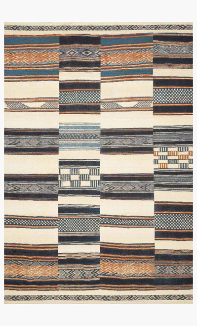 Mika Ivory/Multi by Loloi Rugs at the Artful Lodger in Charlottesville, VA