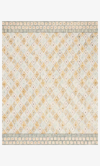 Priti Mist/Gold by Loloi Rugs at the Artful Lodger in Charlottesville, VA