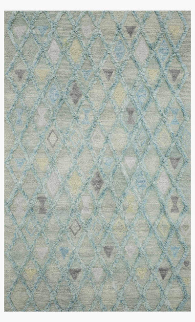 Symbology Seafoam/Sky by Loloi Rugs at the Artful Lodger in Charlottesville, VA