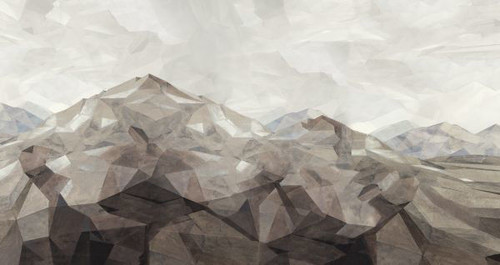 Low Poly Landscape II by Art For Lodgers at the Artful Lodger in Charlottesville, VA