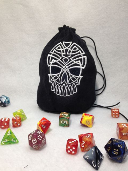 Celtic Skull Dice Bag
