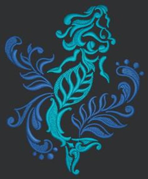 Damask Mermaid Dice Bag