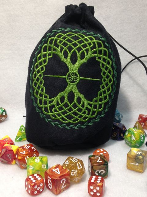 Celtic Tree of Life Dice Bag