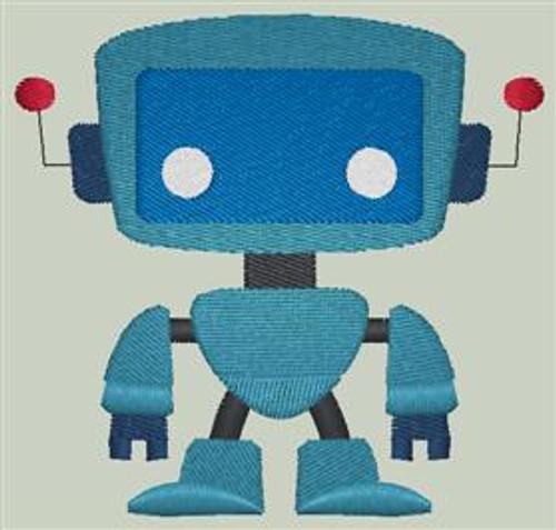 Cute Robot Dice Bag