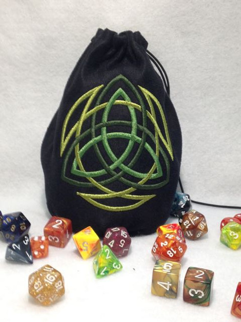 Celtic Triquetra Dice Bag