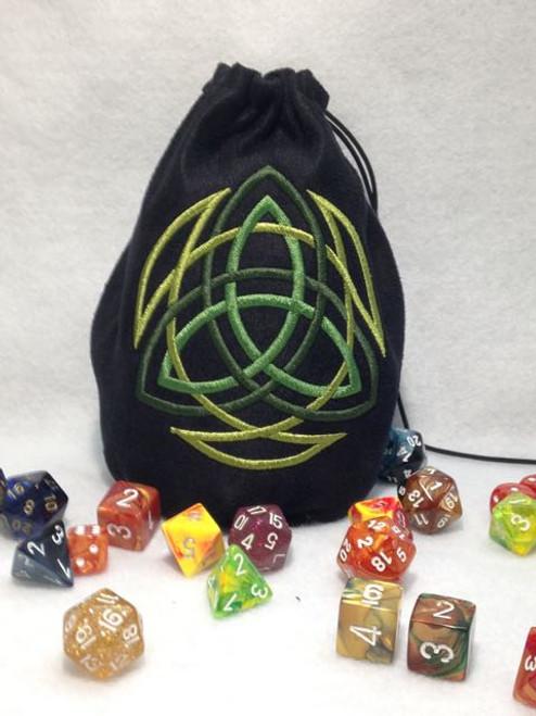 Celtic Triquetra Dice Bag