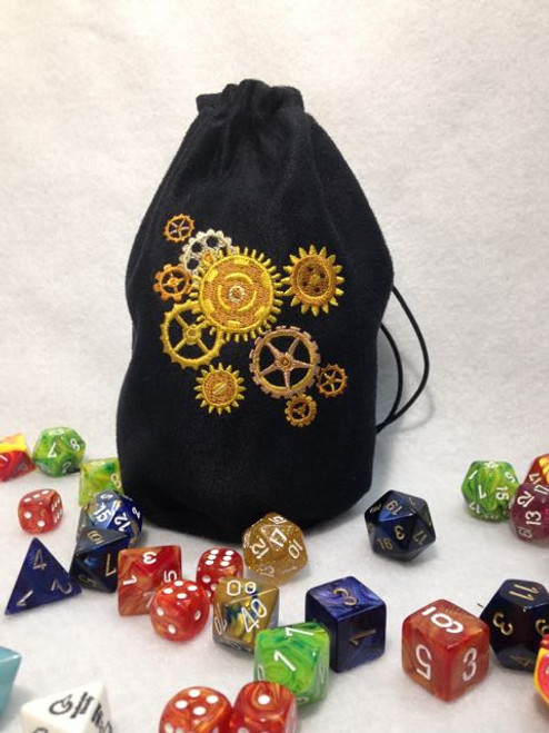 Steampunk Gears Dice Bag