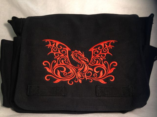 Damask Dragon Messenger Bag