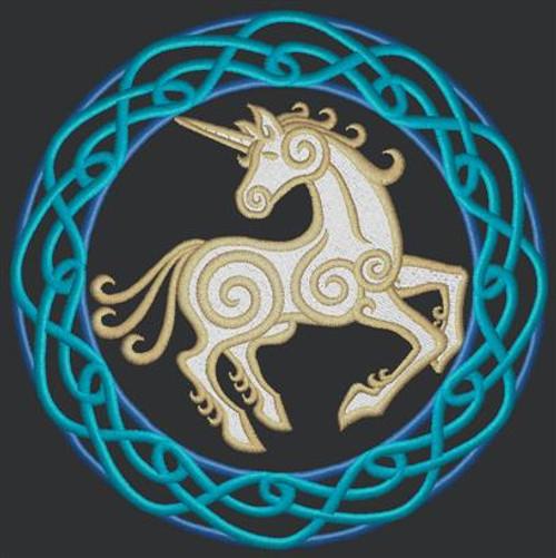 Circle Unicorn Messenger Bag