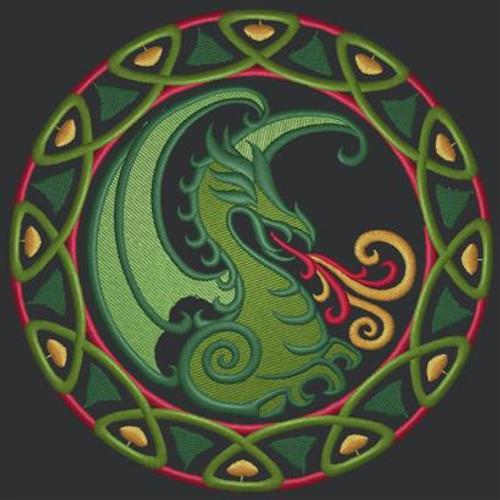 Circle Dragon Messenger Bag