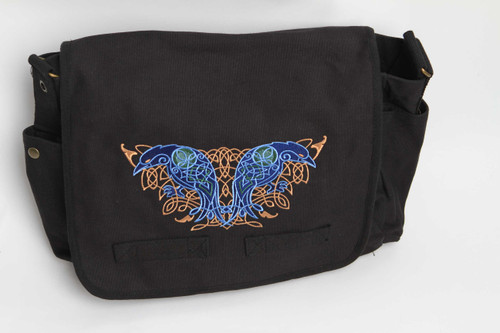 Celtic Knotwork Ravens Messenger Bag