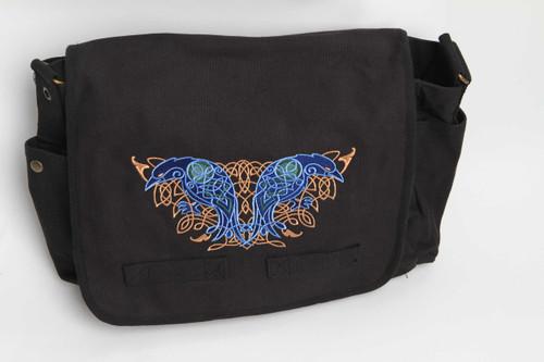 Celtic Knotwork Ravens Messenger Bag
