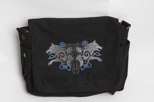 Celtic Knotwork Wolves Messenger Bag