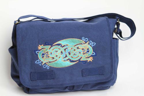 Celtic Knotwork Dragons Messenger Bag