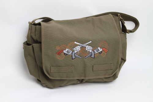 Guns and Gears Steampunk Messenger Bag