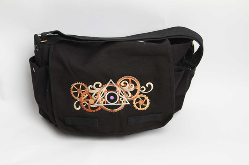 Alchemical gears messenger bag