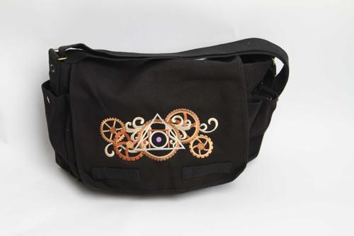 Alchemical gears messenger bag
