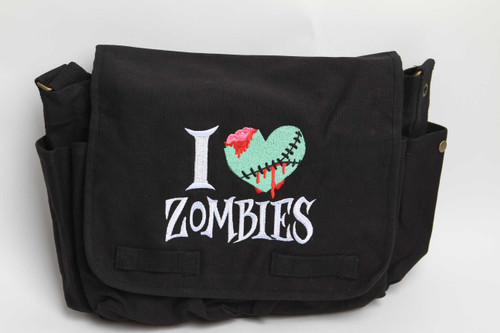 I Love Zombies Messenger Bag