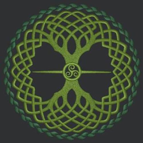 Celtic Tree of Life Tech Bag
