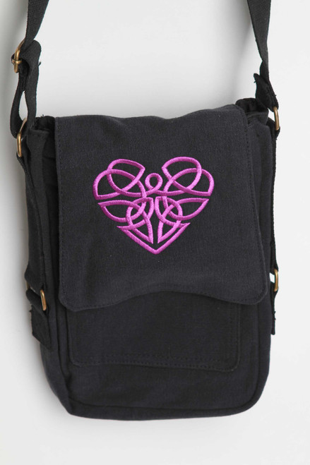 Celtic Heart Tech Bag