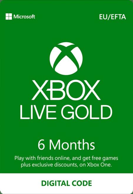 Xbox Live 6 Month Gold Membership