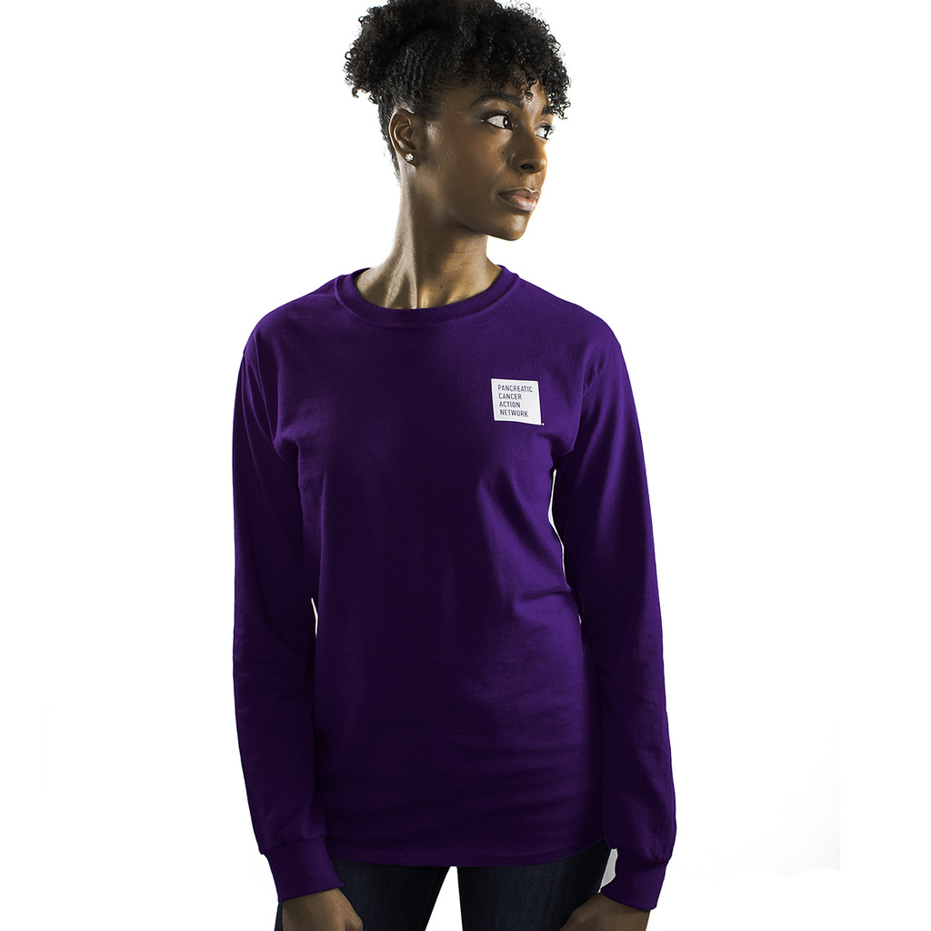Pancreatic Cancer Awareness Long Sleeve T-Shirt/Unisex/For Her