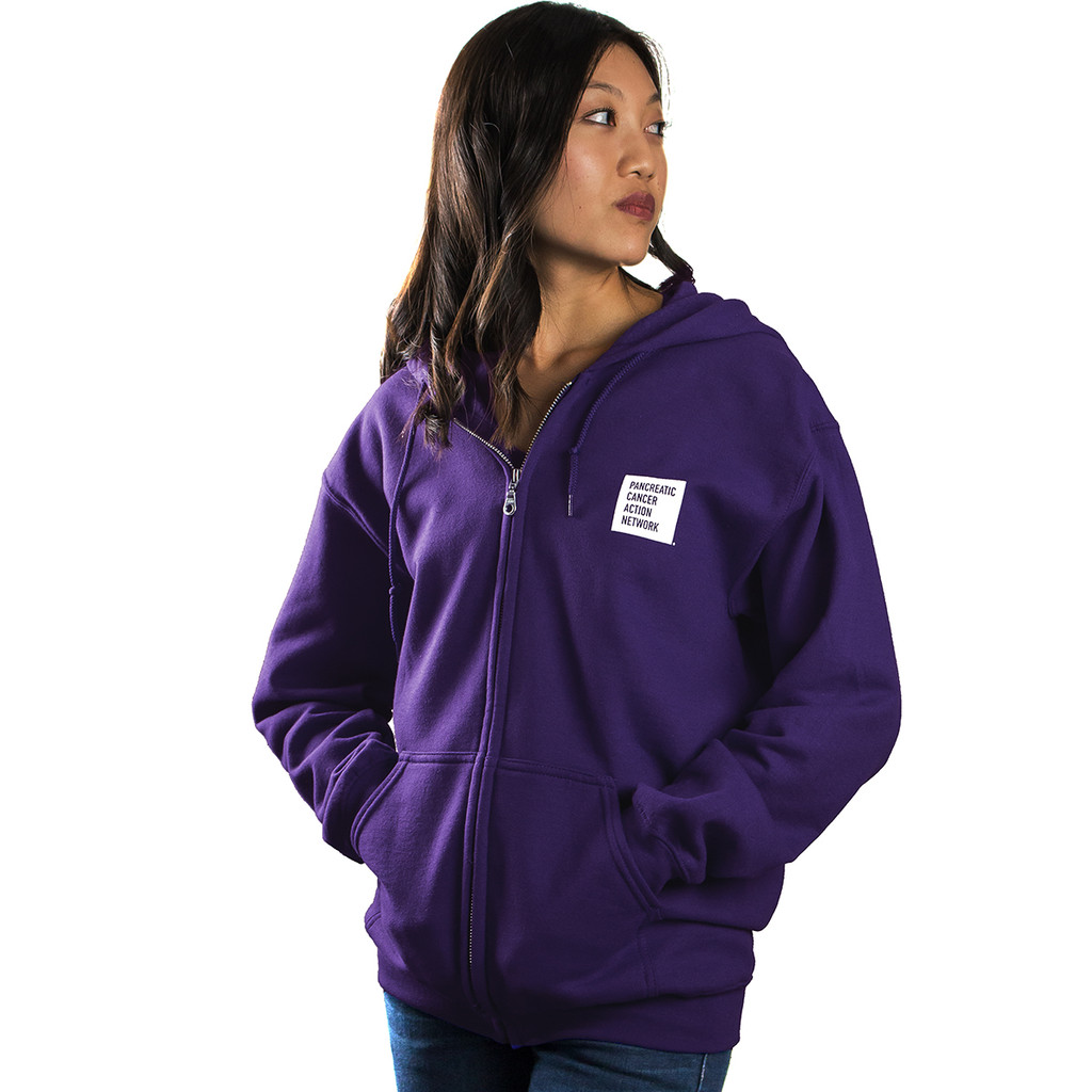 Pancreatic Cancer Awareness Wage Hope Zippered Hoodie/Unisex/For Her