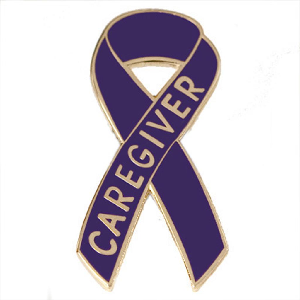 Pancreatic Cancer Awareness Lapel Pin - Caregiver
