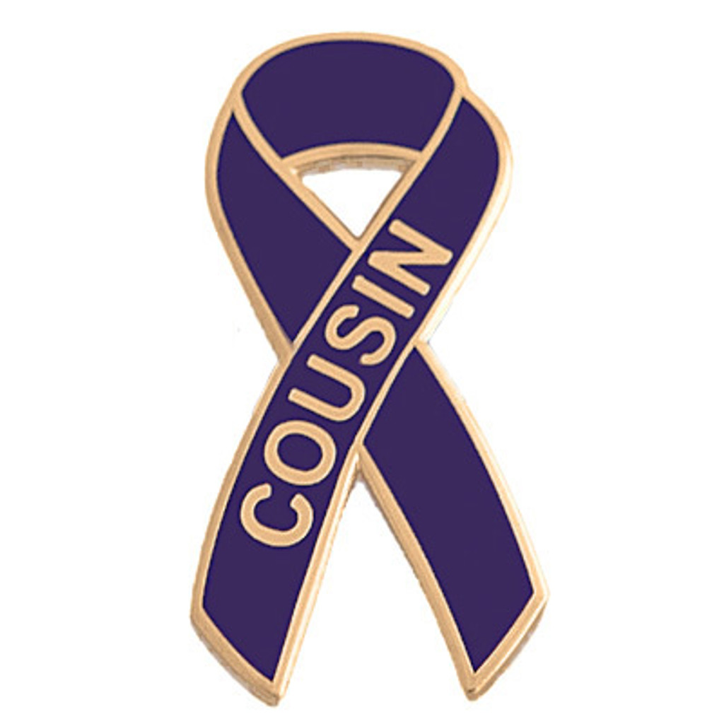 Pancreatic Cancer Awareness Lapel Pin - Cousin