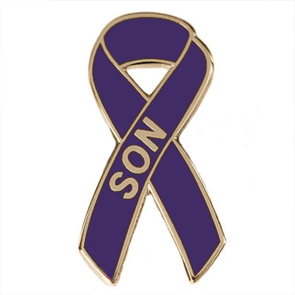 Pancreatic Cancer Awareness Lapel Pin - Son