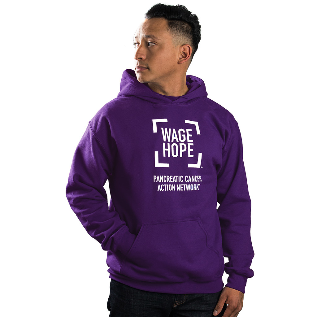 SALE Wage Hope Pancreatic Cancer Awareness Pull over Hoodie/unisex