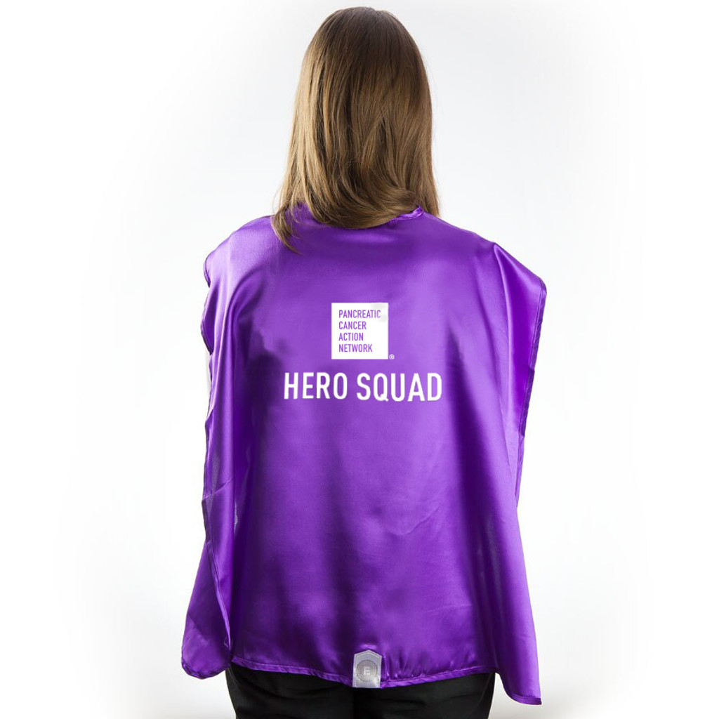 Cape - Pancreatic Cancer Awareness Hero Squad Cape